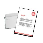 courrier sous enveloppe moyen format