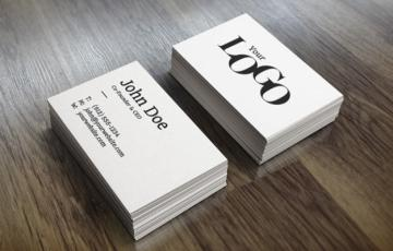 Carte De Visite Typography Noire