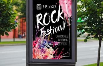 affiche rock festival impression