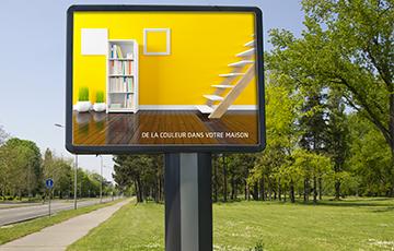 Impression affiche grand format 320 x 240 cm