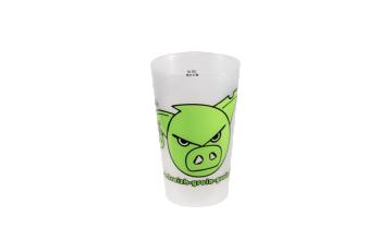 Gobelet réutilisable blanc et vert