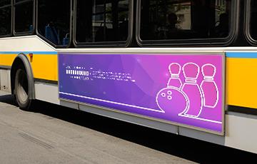 Affiche grand format flanc de bus