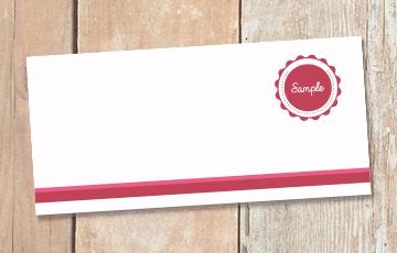Carte de correspondance imprimée