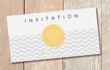 Impression carton d'invitation
