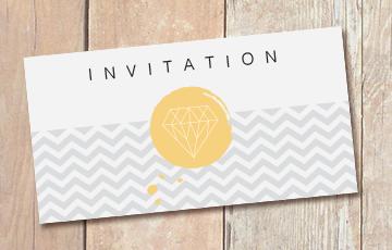 Impression carton invitation : I Love Print