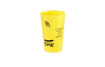 Gobelet personnalisé couleur jaune