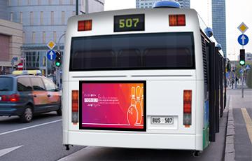 Affiche communication pour bus
