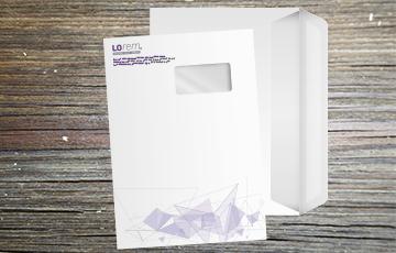 Enveloppe grand format mm mecanisable imprimée