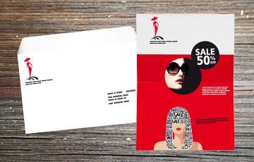 lettre sous enveloppe avec personnalisation moyen format