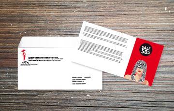 impression carte + personnalisation enveloppe petit format