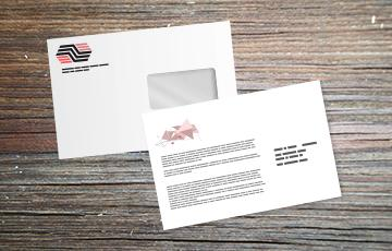 impression + personnalisation carte enveloppe moyen format