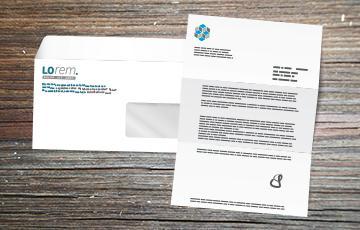 Impression personnalisation lettre - enveloppe petit format fenêtre