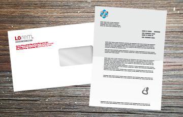 impression et personnalisation lettre - enveloppe moyen format