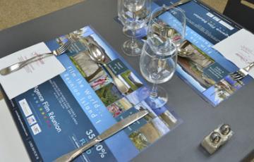 set de table publicitaire restaurant