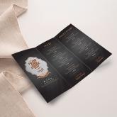 menu restaurant dépliant 3 volets