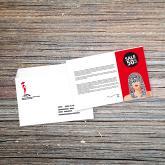 impression carte personnalisation adresse sur enveloppe moyen format